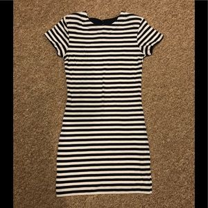 French Connection Navy & White Striped Dress